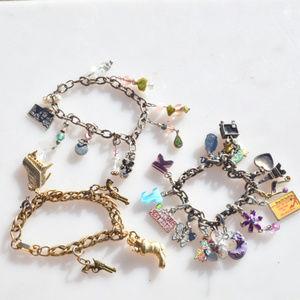💋3 for $20 Bundle Lot Charm Bracelets Western